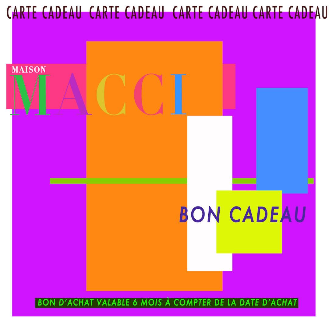 CARTE CADEAU MAISON MACCI
