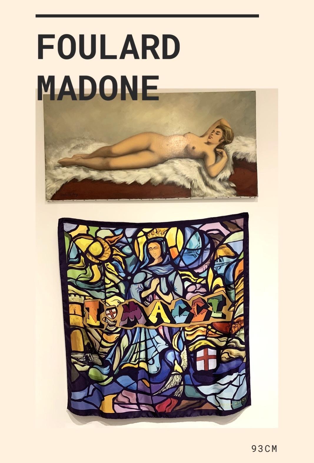 Foulard Madone, notre Dame de la Serra Calvi